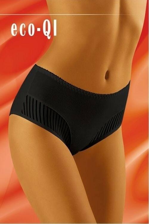 Dámské kalhotky eco-QI black - XL - černá