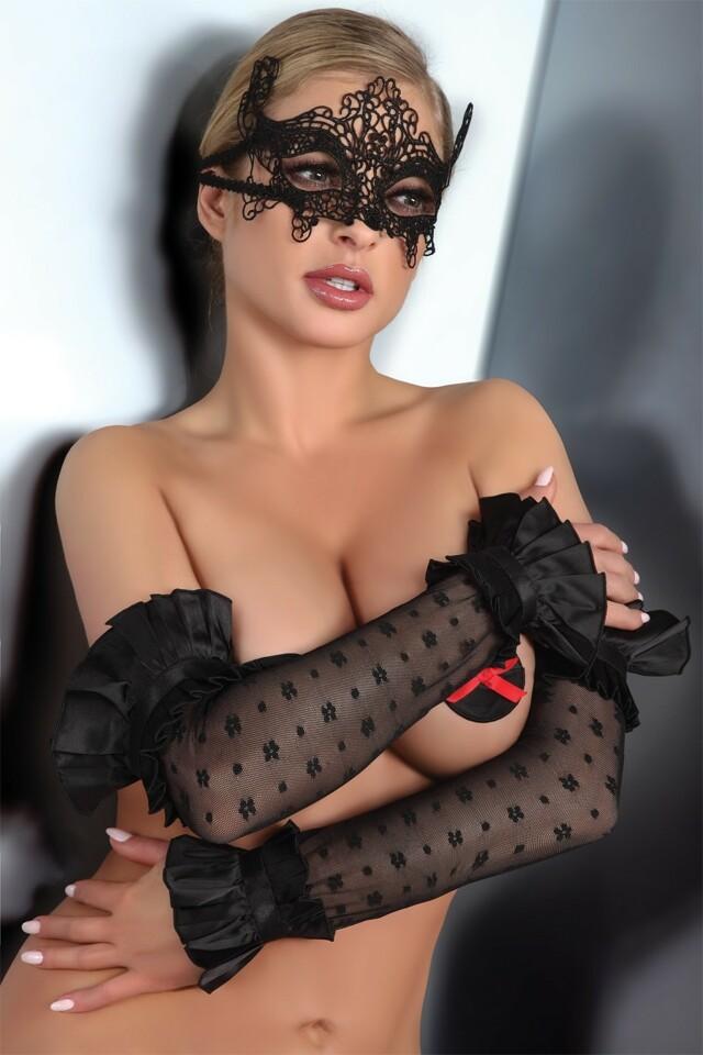 Erotické rukavičky Gloves 11 - S/L - černá
