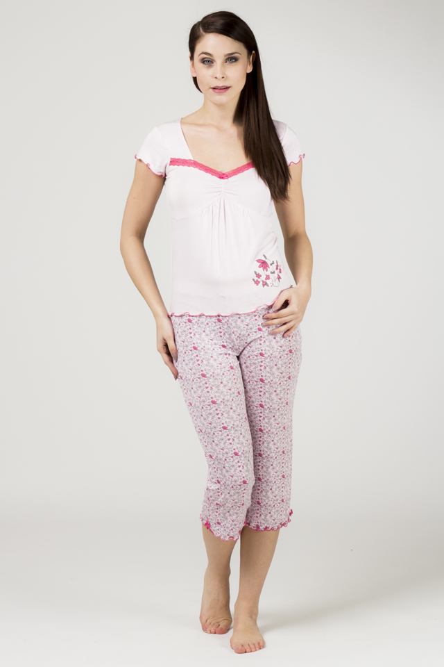 Dámské pyžamo 565 KK - Cocoon - XL - růžová