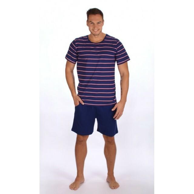 Pánské pyžamo 2367 - Gazzaz - XL - tmavě modrá/proužky