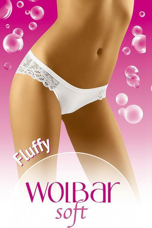 Dámské kalhotky Wol-Bar Soft Fluffy - L - černá
