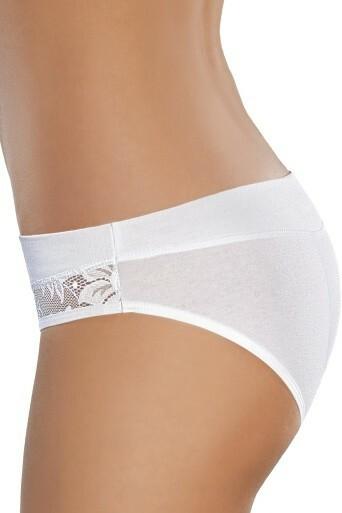 Bokové dámské kalhotky Catherine bílé - L