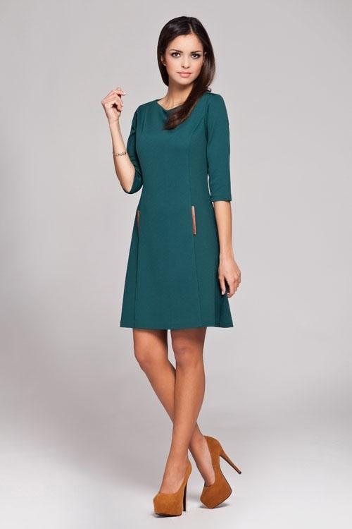 Denní šaty model 27974 Figl - 38 - tmavě modrá