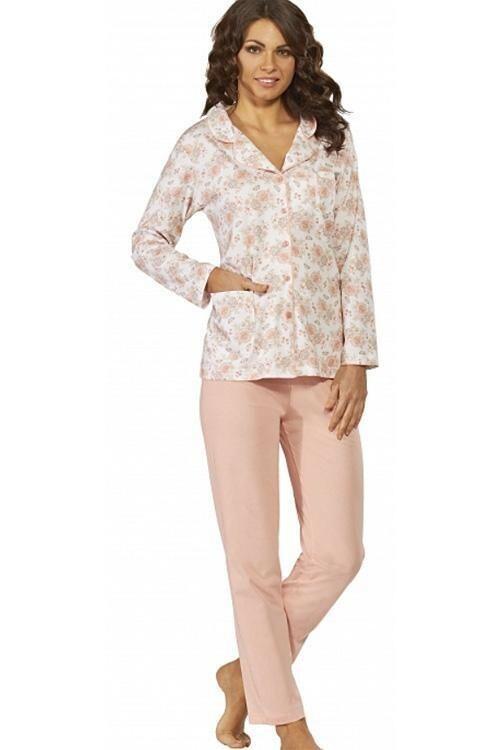 Dámské pyžamo Luna 524-2 - XL - lososová
