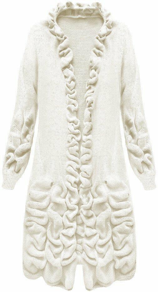 Okrový dámský svetr s nabíráním (126ART) - ONE SIZE - okrová