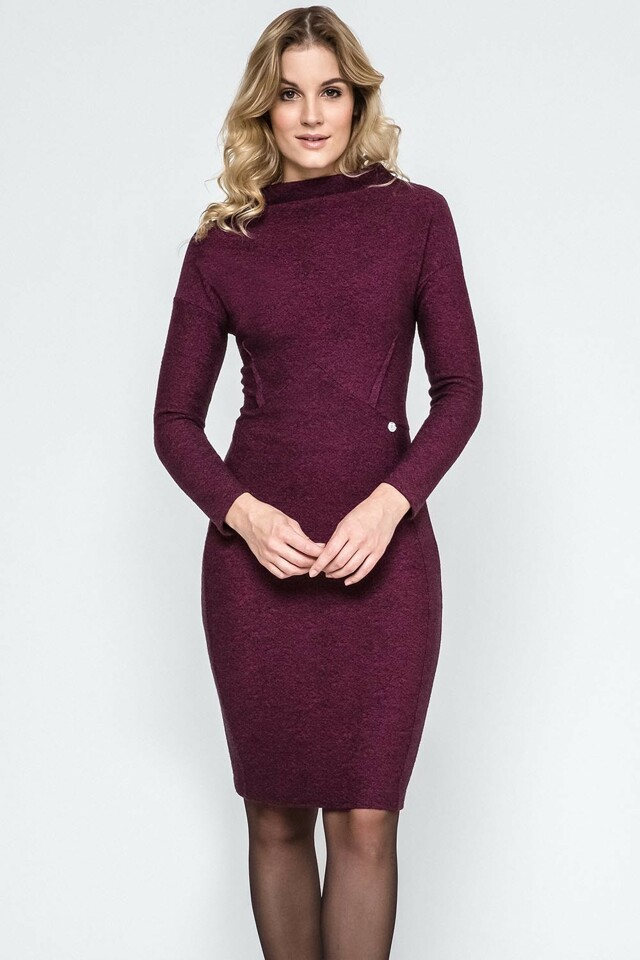 Dámské šaty Ennywear 240019 - 42 - bordó žíhaná