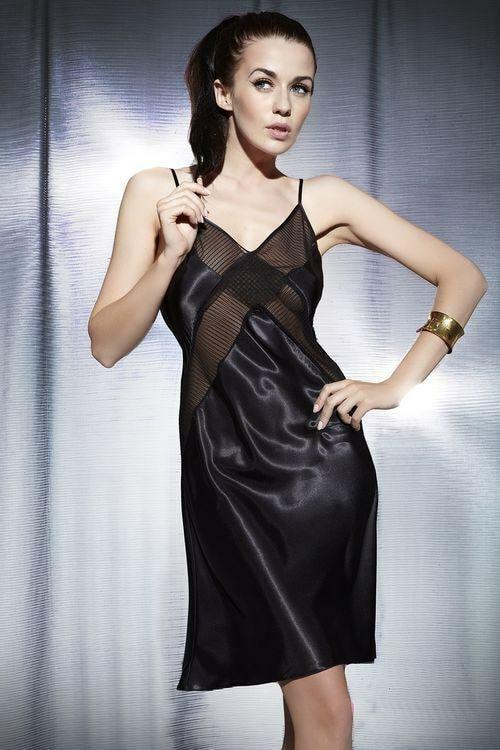 Dámská noční košilka 849 - Miran - XL - černá