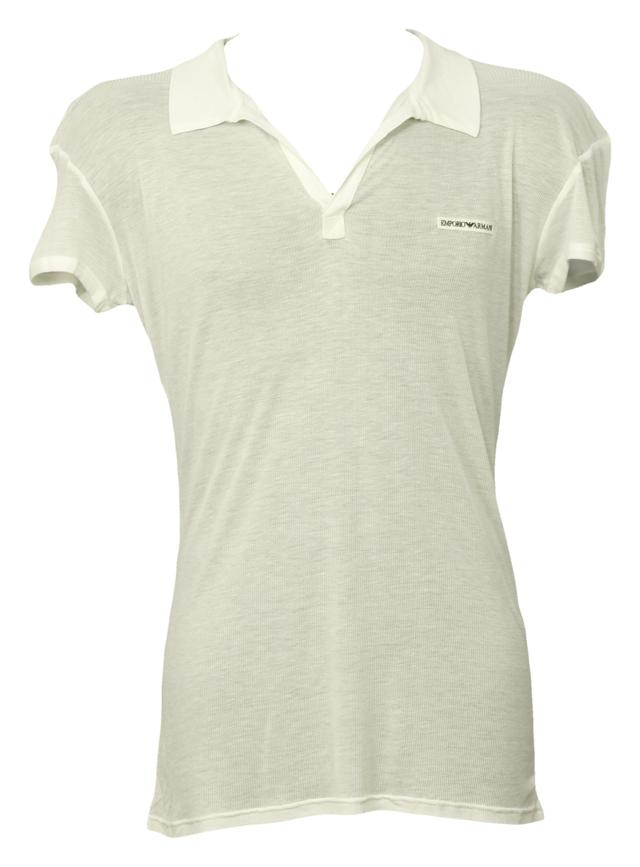 Pánské tričko 9S449 - Emporio Armani - 54 - bílá