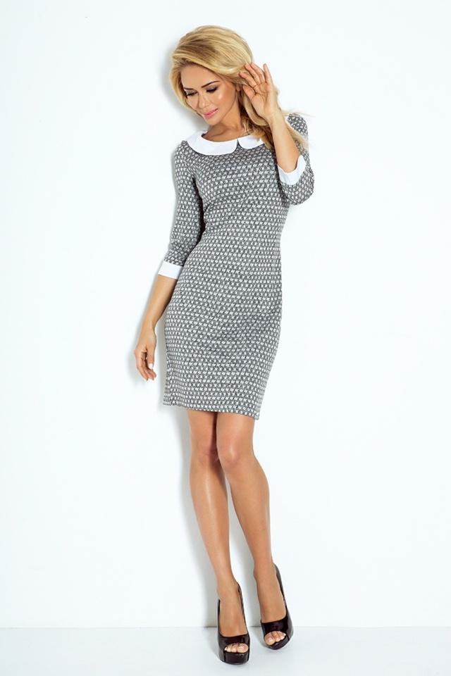 Denní šaty model 60516 Numoco - M - šedá