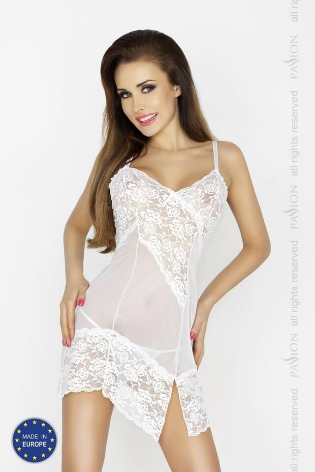 Erotická košilka Amara chemise - S/M - bílá