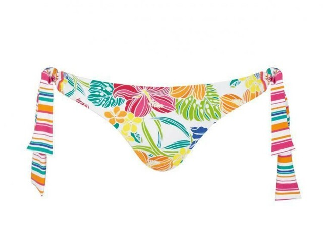 Spodní díl plavek sloggi swim Pink Summer Tanga 02 - 36 - světlá kombinace růžové (M019)