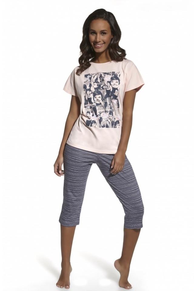 Dámské pyžamo 624/41 Audrey - M - růžová