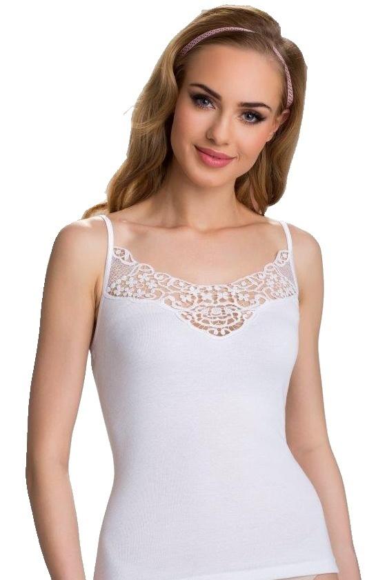 Dámská spodní košilka Lorna bílá