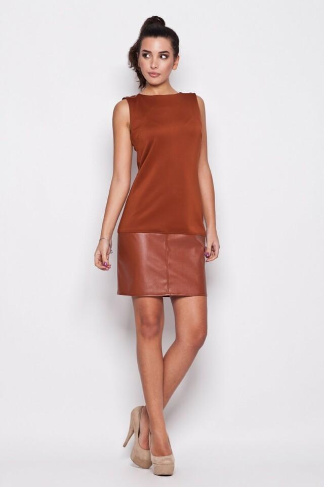 Dámské šaty K074 brown
