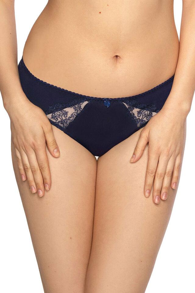 Dámské kalhotky brazilky Gaia 854B Elizabeth - 2XL - elegantní tmavě modrá