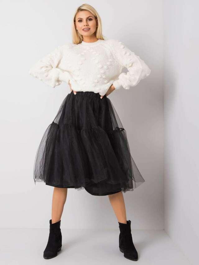 RUE PARIS Černá tylová sukně - S
