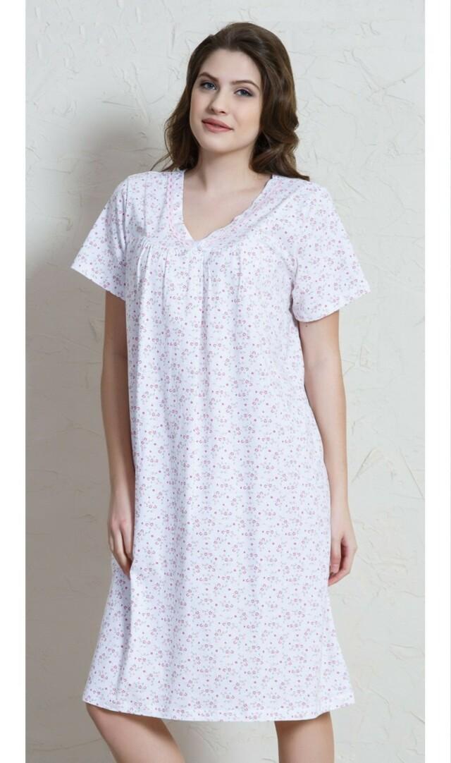 Dámská noční košile s krátkým rukávem Elza