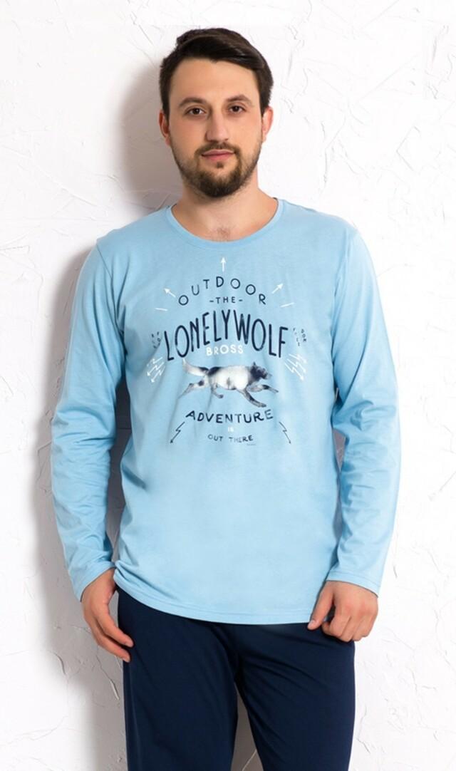 Pánské pyžamo dlouhé Vlk