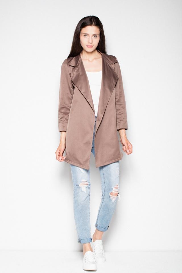 Dámský kabátek - plášť VT039 - Venaton - L - světle šedá