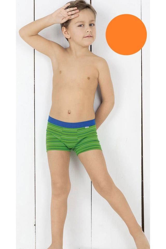 Chlapecké boxerky 701/07 - 122/128 - oranžová