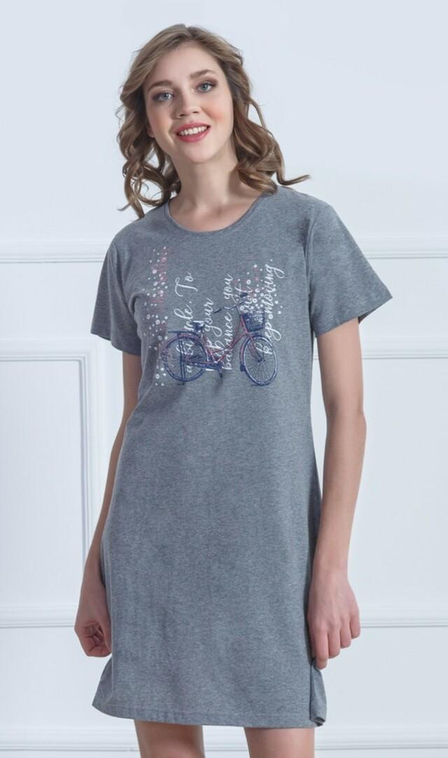 Dámská noční košile s krátkým rukávem Kolo - meruňková M
