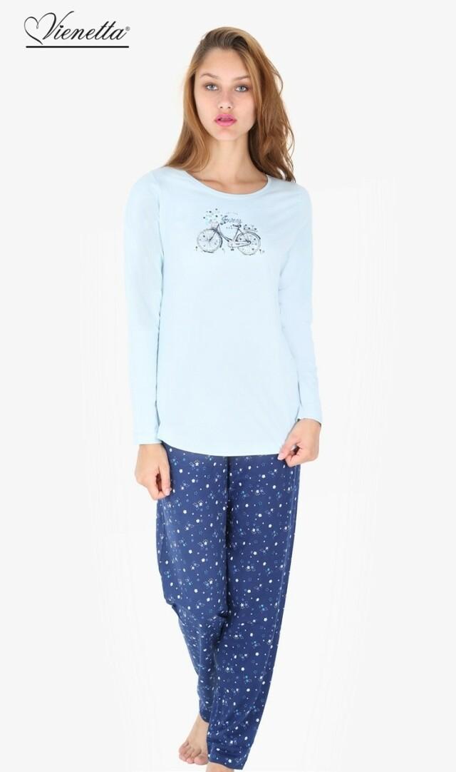 Dámské pyžamo dlouhé Bicykl