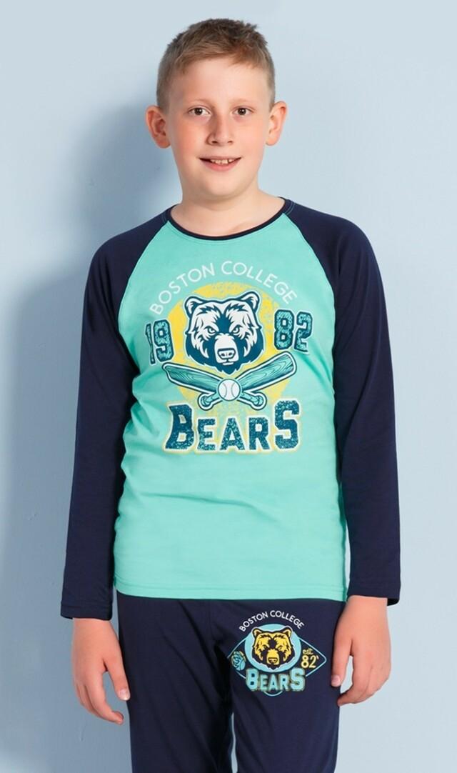 Dětské pyžamo dlouhé Bears - azurová 15 - 16