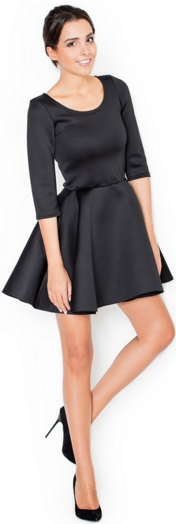 Dámské společenské šaty K227 - 40 - černá