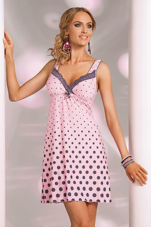 Noční košilka Donna Sonia pink - XXL - růžová
