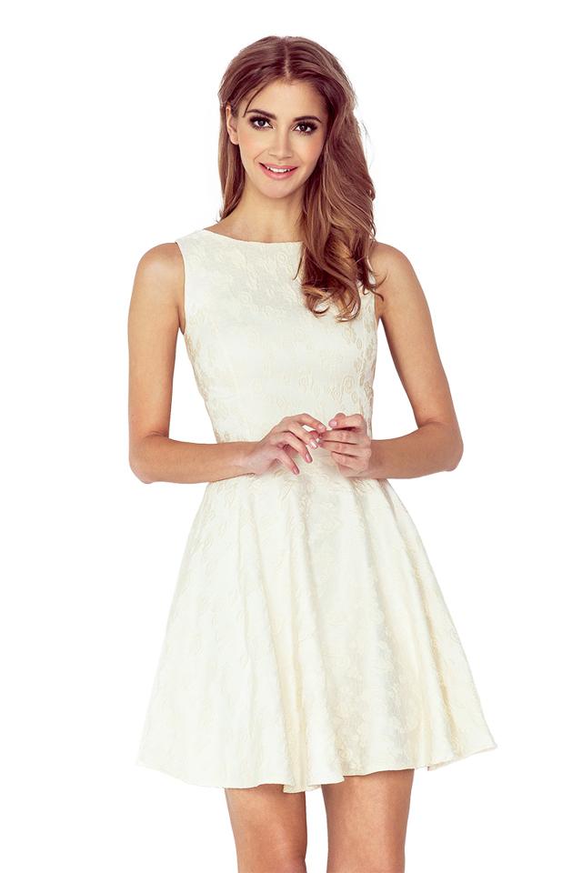Dámské šaty 125-17 - S - krémová