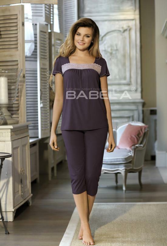 Dámské pyžamo Delfina Babella - 3XL - korálová