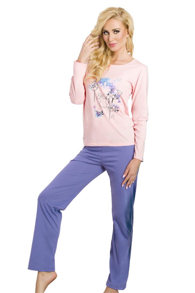 Dámské pyžamo Sylvie růžové - L