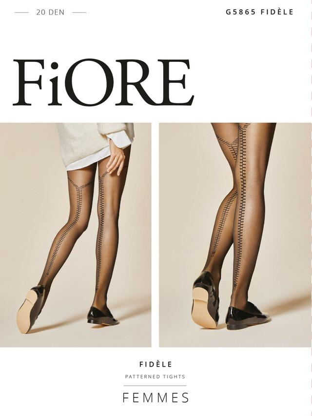Punčochové kalhoty Fiore Fidele G 5865 20 den 2-4 - 4-L - černá