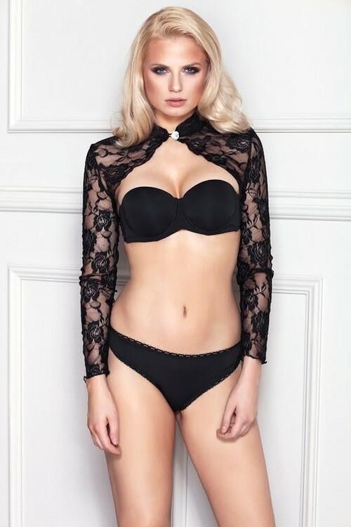 Erotické bolero Luxuria - M - černá