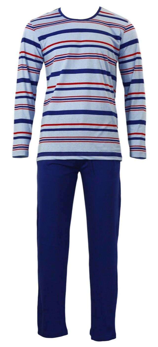 Pánské pyžamo Gazzaz 4497 - XL - černá-pruh