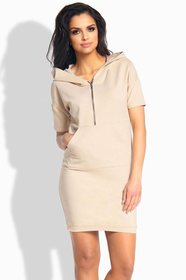 Dámské šaty L190 - Lemoniade - L - béžová