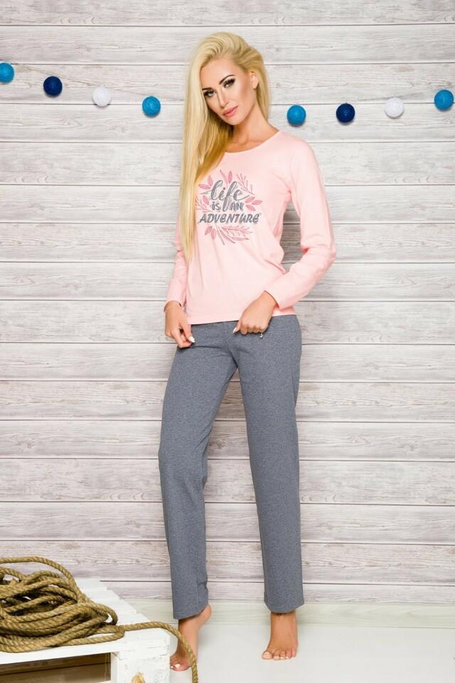 Dámské pyžamo 259 Sylwia pink - 3XL - růžová