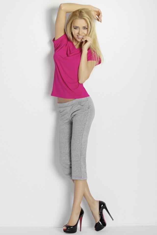 Dámská souprava Erna pink-grey - XXL - růžová