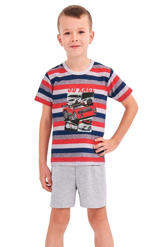 Chlapecké pyžamo Max červené proužky - 92