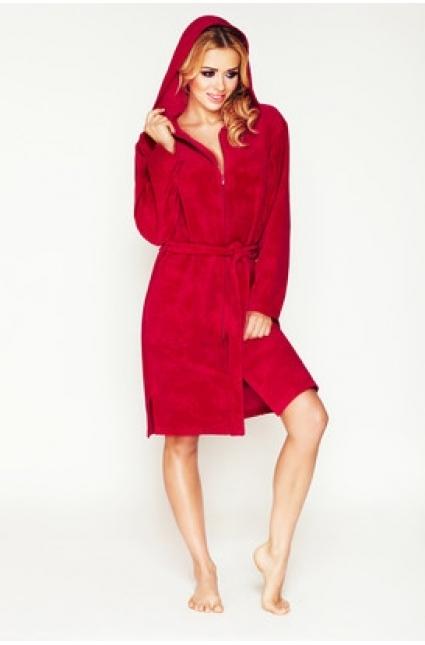 Župan s kapucí Diana - DKaren - XL - červená