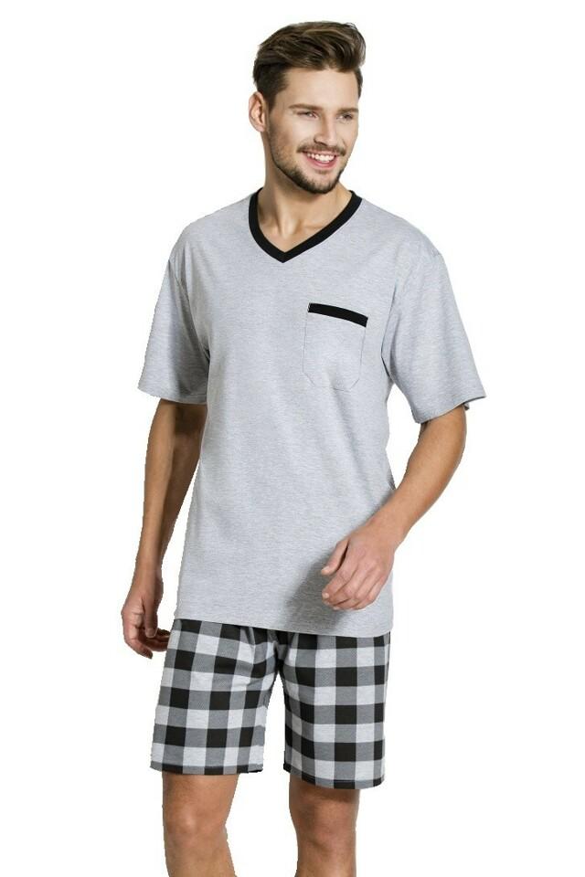 Pánské pyžamo Rudy šedé