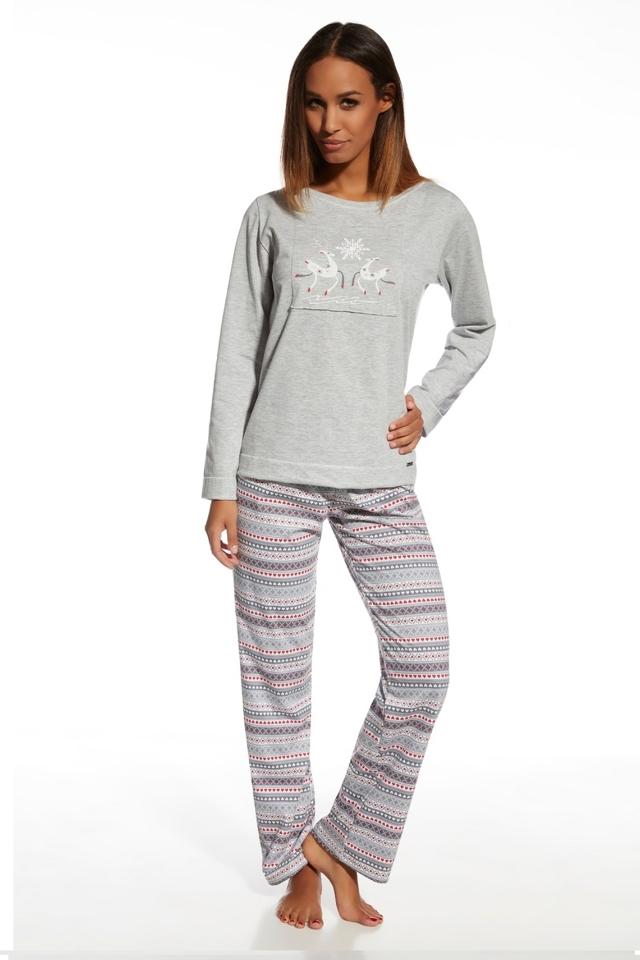 Dámské pyžamo 655/105 Snowflake - XL - melanž
