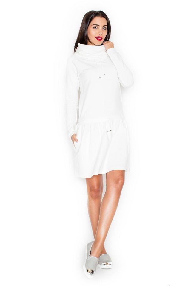 Dámské šaty K260 ecru - S - krémová