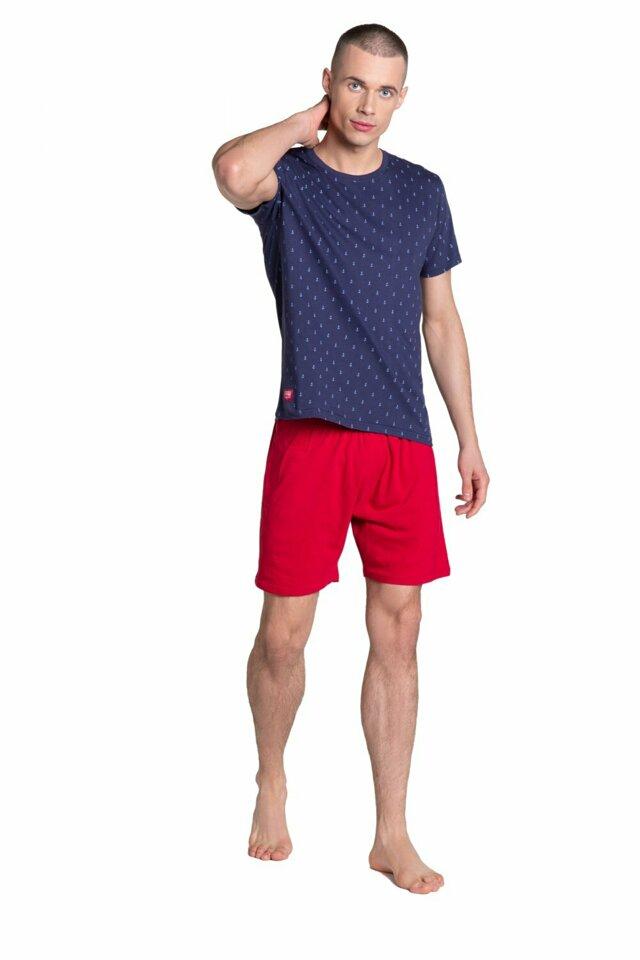 Pánské pyžamo 38866 - HENDERSON - XXL - tmavě modrá