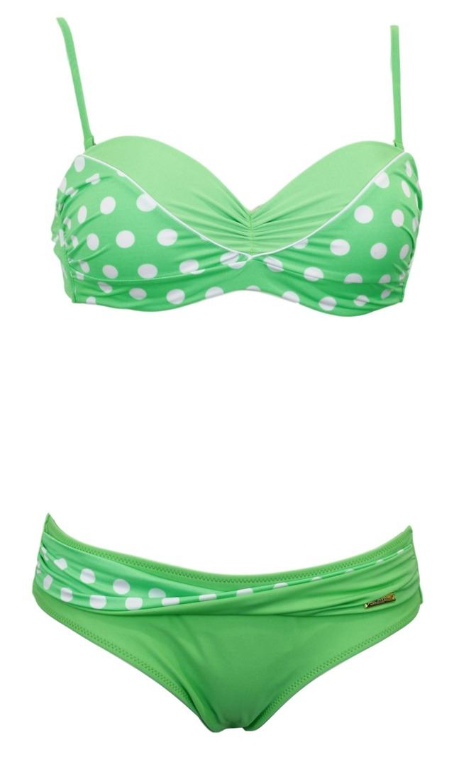Dvoudílné plavky Anastacia M-341 - Marko - XXL - zeleno-bílá