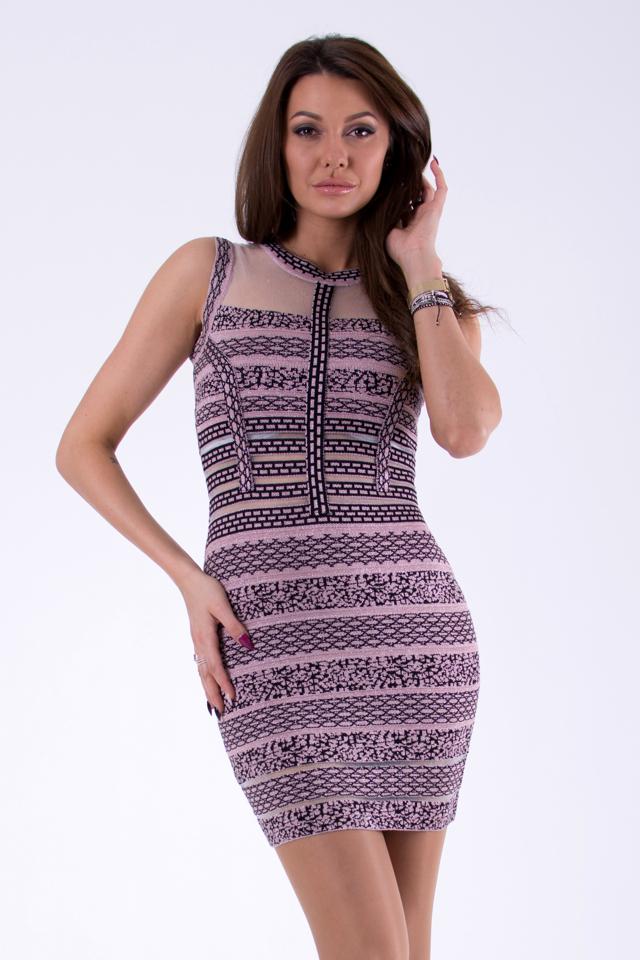 e723ee28b821 Růžové šaty SOKY SOKA 46025-1