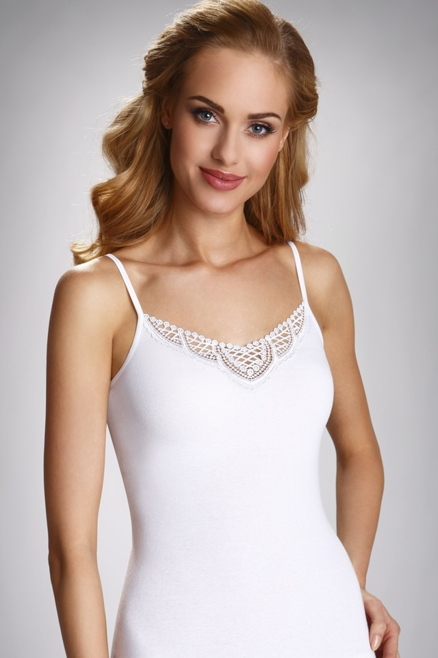 Dámská košilka Julia white - XL - bílá