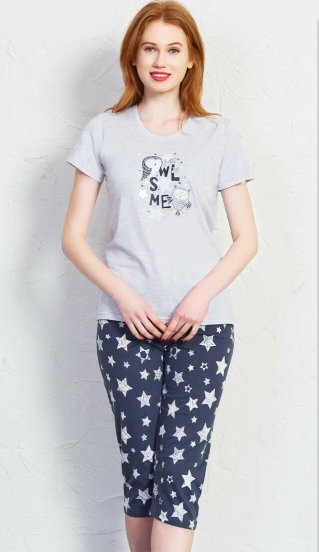 Dámské pyžamo kapri Sovy
