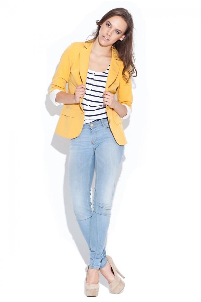Dámské sako K013 yellow