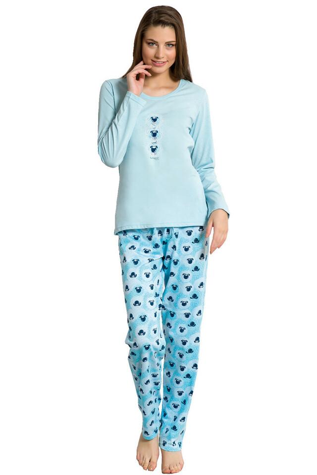 Dámské pyžamo Cristina modré - S